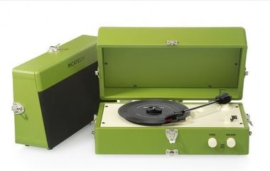 RICATECH Gramofon RTT80 Vintage Turntable Green