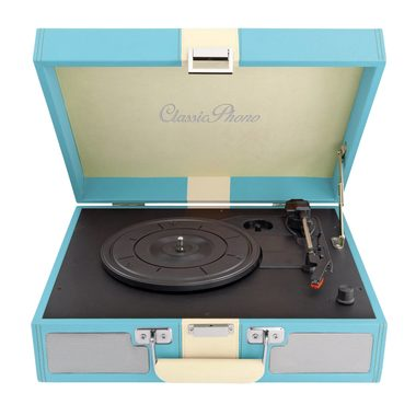 Lenco TT-33 modrá / Gramofon / 33 & 45 & 78 RPM / AUX-in / RCA-out / repro