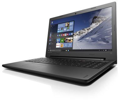 "Notebook Lenovo IdeaPad 100 / 15.6"" / Intel Pentium N3540 2.1GHz / 4GB / 500GB / Intel HD / DVD / WIN10 / Černý"