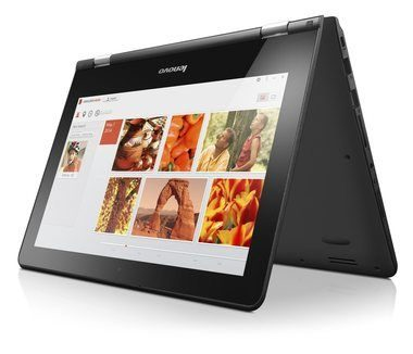 "Ultrabook Lenovo IdeaPad Yoga 300-11IBR / 11.6"" HD / Intel Pentium N3710 1.6GHz / 4GB / 500GB+8GB SSHD / Intel HD / W10 / Černý"