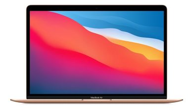 "Ultrabook Apple MacBook Air 13"" M1 2020 CZ Gold / Apple M1 3.2GHz / 8GB / 512GB SSD / Apple 8-jádrová iGPU / macOS Big Sur"