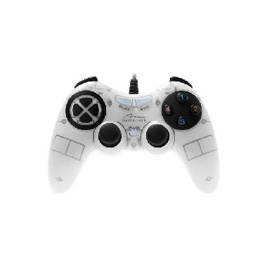 Corsair gamepad s vibracemi / Gamepad / USB / PC, PS, PS2, PS3 / bílá