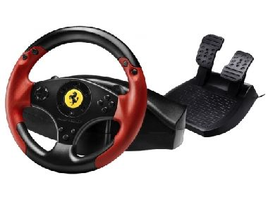 Thrustmaster Red Legend edice / Sada volantu a pedálů Ferrari Racing Wheel pro PS3 a PC