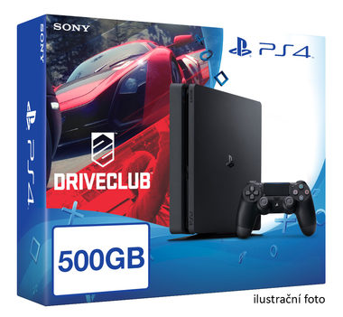 SONY PlayStation 4 - 500GB Slim Black CUH-2016A + DRIVECLUB