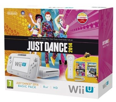 Nintendo Wii U Basic Pack White + Nintendoland + Just Dance 2014