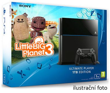 SONY PlayStation 4 - 1TB Black CUH-1216B + Little Big Planet 3