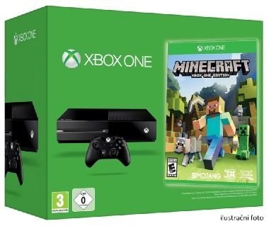 Microsoft XBOX ONE 500GB + Minecraft