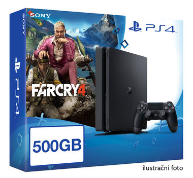 SONY PlayStation 4 - 500GB Slim Black CUH-2016A + Far Cry 4 akční cena