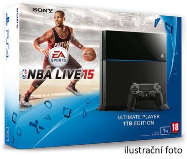 SONY PlayStation 4 - 1TB slim Black CUH-2016B + NBA Live 2015