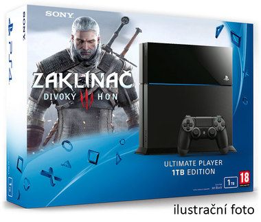 SONY PlayStation 4 - 1TB + The Witcher 3: The Wild Hunt edice roku (Zaklínač 3)