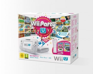 Nintendo Wii U Basic Pack White / Nintendo Land / Wii Party U / New Super Mario Bros.U / New Super Luigi U / bílá