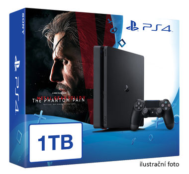 SONY PlayStation 4 - 1TB slim Black CUH-2016B + Metal Gear Solid V: Phantom Pain