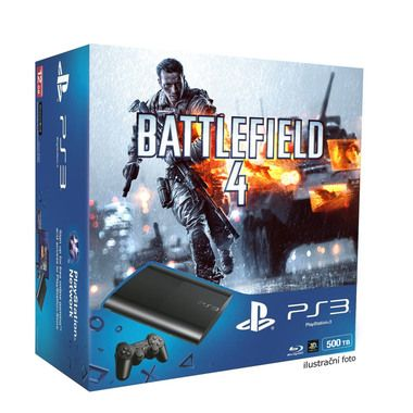 SONY PlayStation 3 Slim New (SuperSlim) - 500GB + Battlefield 4