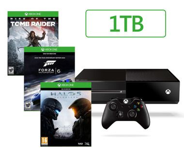 Microsoft XBOX ONE 1TB + Halo 5 + Forza Motorsport 6 + Rise of the Tomb Raider