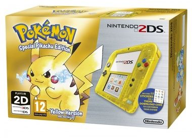 Nintendo 2DS Transparent Yellow + Pokémon Yellow předinstalováno