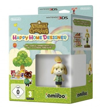 3DS Animal Crossing HHD + Isabelle (Summer) amiibo / Simulátor / Angličtina / od 3 let / Hra pro Nintendo 3DS