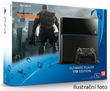 SONY PlayStation 4 - 1TB Black CUH-1216B + Tom Clancy's The Division