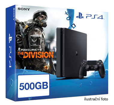 SONY PlayStation 4 - 500GB Slim Black CUH-2016A + Tom Clancy's The Division