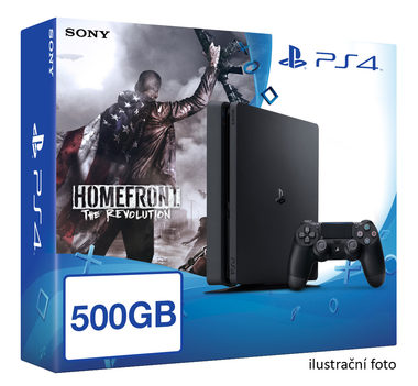 SONY PlayStation 4 - 500GB Slim Black CUH-2016A + Homefront: The Revolution