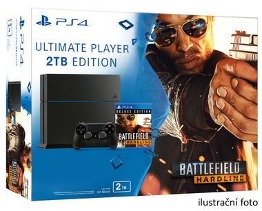 SONY PlayStation 4 - 2TB Black CUH-1216A + Battlefield Hardline Deluxe edition