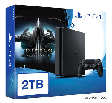 SONY PlayStation 4 - 2TB slim Black CUH-2016 + Diablo III: Ultimate Evil Edition