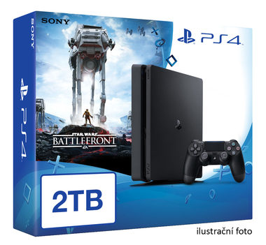SONY PlayStation 4 - 2TB slim Black CUH-2016 + Star Wars Battlefront