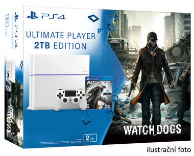 SONY PlayStation 4 - 2TB White CUH-1216A + Watch dogs