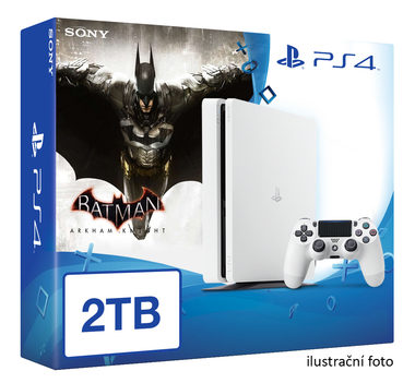 SONY PlayStation 4 - 2TB White CUH-2016 + Batman Arkham Knight