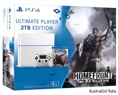 SONY PlayStation 4 - 2TB White CUH-1216A + Homefront: The Revolution