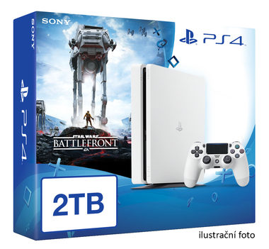 SONY PlayStation 4 - 2TB White CUH-1216A + Star Wars Battlefront