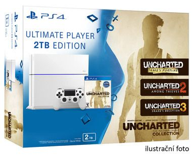 SONY PlayStation 4 - 2TB White CUH-1216A + Uncharted: Nathan Drake Collection / 3 hry / speciální edice balení