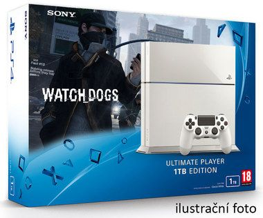 SONY PlayStation 4 - 1TB White CUH-1216A + Watch dogs