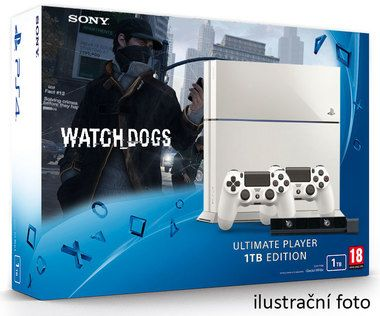 SONY PlayStation 4 - 1TB White CUH-1216A + Watch dogs + camera + 2x Dualshock