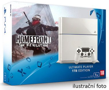 SONY PlayStation 4 - 1TB White CUH-1216A + Homefront: The Revolution