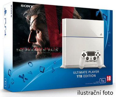 SONY PlayStation 4 - 1TB White CUH-1216A + Metal Gear Solid V: Phantom Pain