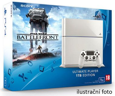 SONY PlayStation 4 - 1TB White CUH-1216A + Star Wars Battlefront