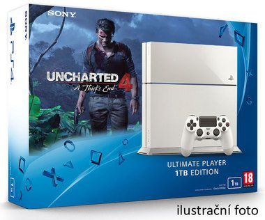 SONY PlayStation 4 - 1TB White CUH-1216A + Uncharted 4: A Thief's End