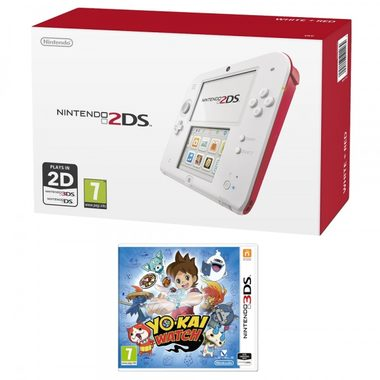 Nintendo 2DS White & Red + YO-KAI WATCH