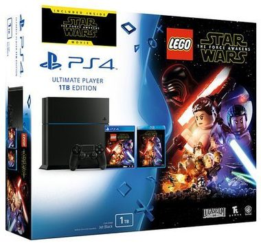 SONY PlayStation 4 - 1TB Black + Lego Star Wars + film Star Wars Síla se probouzí