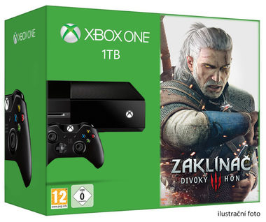 Microsoft XBOX ONE 1TB + The Witcher 3: Wild Hunt edice roku (Zaklínač 3)