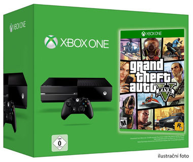 Microsoft XBOX ONE 500GB + GTA V