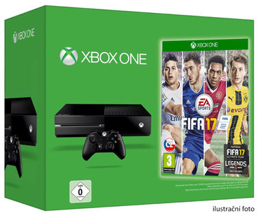 Microsoft XBOX ONE 500GB + FIFA 17