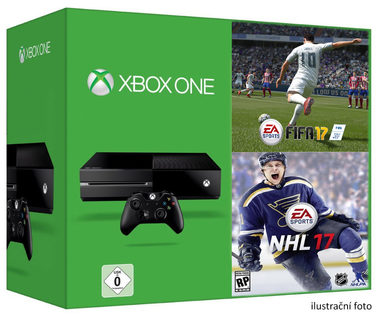 Microsoft XBOX ONE 500GB + FIFA 17 + NHL 17