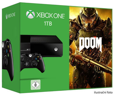Microsoft XBOX ONE 1TB + DOOM