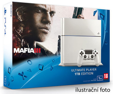 SONY PlayStation 4 - 1TB White CUH-1216A + Mafia III