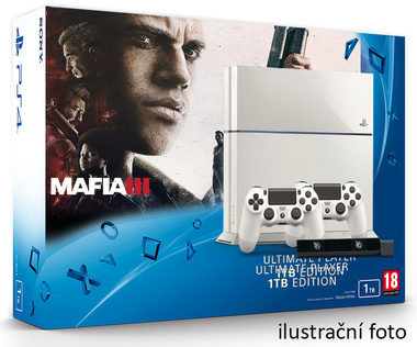 SONY PlayStation 4 - 1TB White CUH-1216A + Mafia III + camera + 2x Dualshock