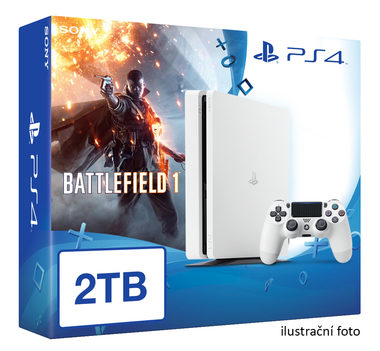 SONY PlayStation 4 - 2TB White CUH-2016 + Battlefield 1