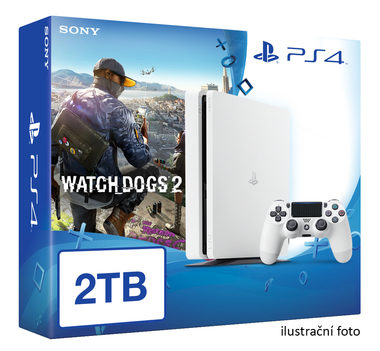 SONY PlayStation 4 - 2TB White CUH-1216A + Watch Dogs 2