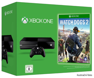 Microsoft XBOX ONE 500GB + Watch Dogs 2