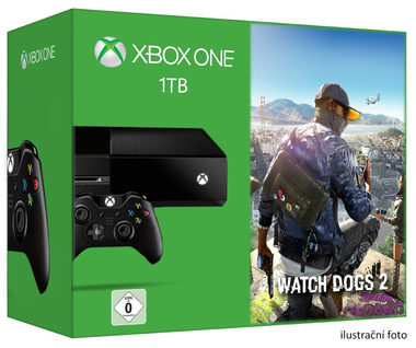 Microsoft XBOX ONE 1TB + Watch Dogs 2